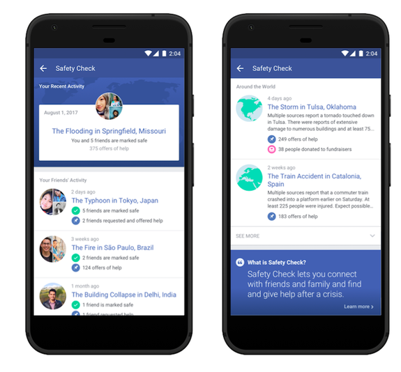 Facebook Safety Check update announced