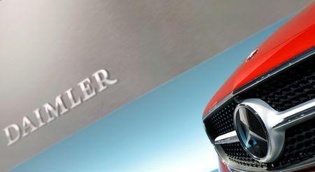 FILE PHOTO: The Mercedes star logo of an E Coupe is pictured before the annual news conference of Daimler AG in Stuttgart, Germany, February 2, 2017.   REUTERS/Michaela Rehle/File Photo