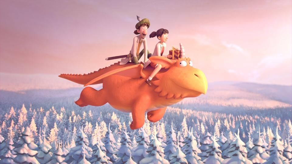 A BBC ident featuring Zog, Princess Pearl and Sir Gadabout (Magic Light Pictures/BBC/PA)