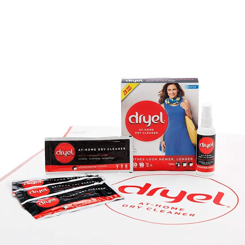 The Dryel At-Home Dry Cleaner Starter Kit is only $10 and can clean 4 loads for a total of 20 garments. (Photo: Amazon)