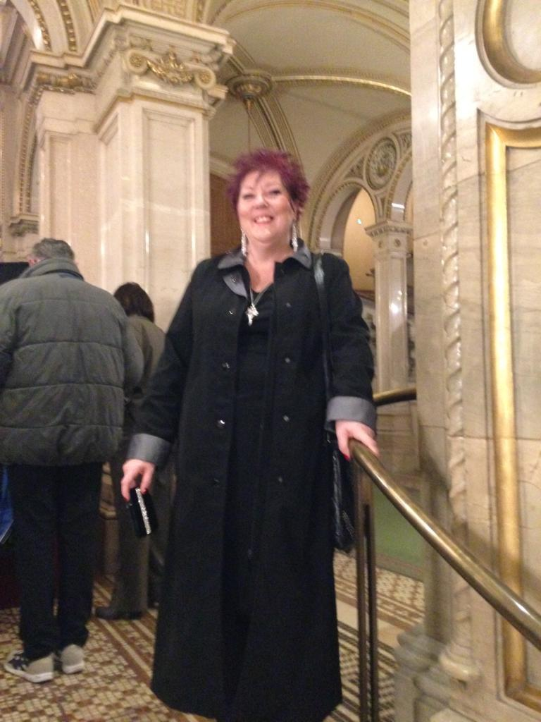 Zena Forster in Vienna for her 60th birthday in December 2015 months before she suffered a stroke