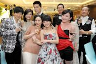 The who's-who of Taiwan's showbiz industry who were there that night also included Singapore's JJ Lin (left), lead singer of Taiwan band F.I.R Faye Zhang, Valen Hsu and Fish Leong.
