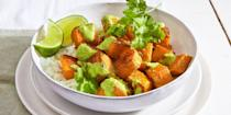 "<p>Made with butternut squash and pumpkin seeds, this vegetarian squash bowl makes for a perfect fall dinner. Plus, it's so hearty and luscious you'll hardly miss the meat.</p><p><em><em><em><a href=""https://www.goodhousekeeping.com/food-recipes/easy/a36255/roasted-squash-and-pumpkin-seed-mole-bowls"" rel=""nofollow noopener"" target=""_blank"" data-ylk=""slk:Get the recipe for Roasted Squash and Pumpkin Seed Mole Bowls »"" class=""link rapid-noclick-resp"">Get the recipe for Roasted Squash and Pumpkin Seed Mole Bowls »</a></em></em></em></p>"