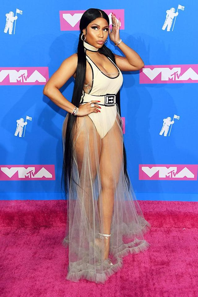 <p>You knew Minaj would wear something that stood out, and she didn't disappoint. (Photo: Nicholas Hunt/Getty Images for MTV) </p>