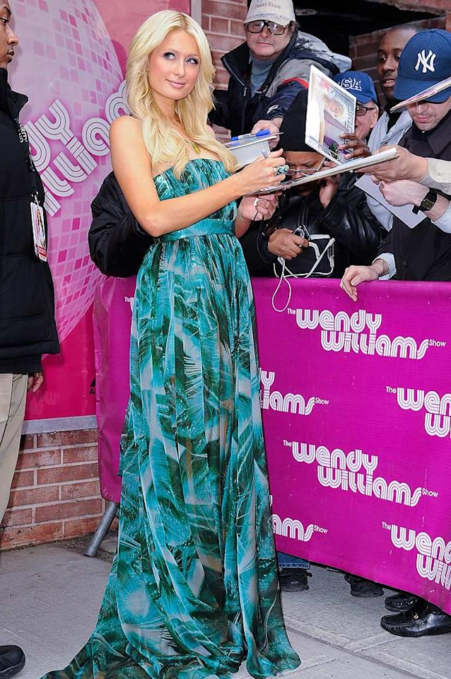 """On her 30th birthday, Paris Hilton headed to NYC, where she signed autographs outside of """"The Wendy Williams Show."""" Ray Tamarra/<a href=""""http://www.gettyimages.com/"""" target=""""new"""">GettyImages.com</a> - February 17, 2011"""