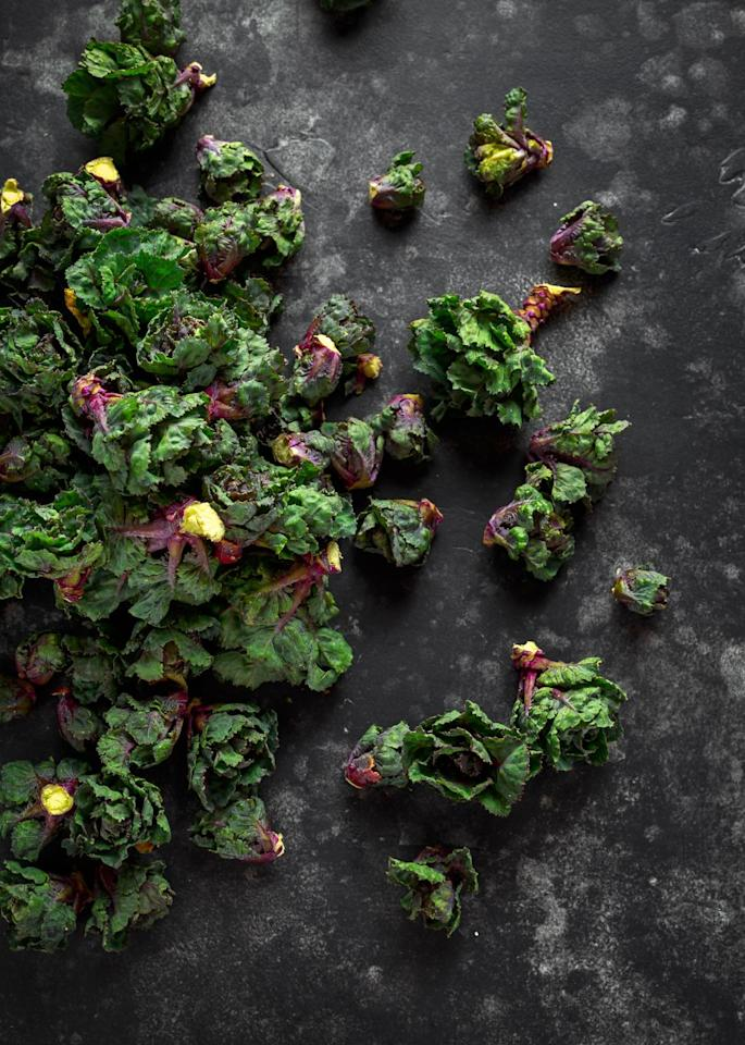 "<p>Watch out, <a href=""https://www.womansday.com/food-recipes/food-drinks/a1845/12-healthy-leafy-green-recipes-110124/"" target=""_blank"">kale</a>: there's a new superfood in town. A cross between the leafy green and Brussels sprouts, these cute little veggies have kale-like leaves but grow on stalks. They're tender, sweet, and nutty all at once, and high in vitamins C and K. They're also the perfect low-cal way to <a href=""https://www.womansday.com/food-recipes/food-drinks/g2432/dinner-salad-recipes/"" target=""_blank"">perk up salads</a> and sides.</p>"