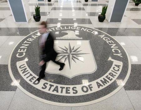 The lobby of the CIA Headquarters Building in McLean, Virginia