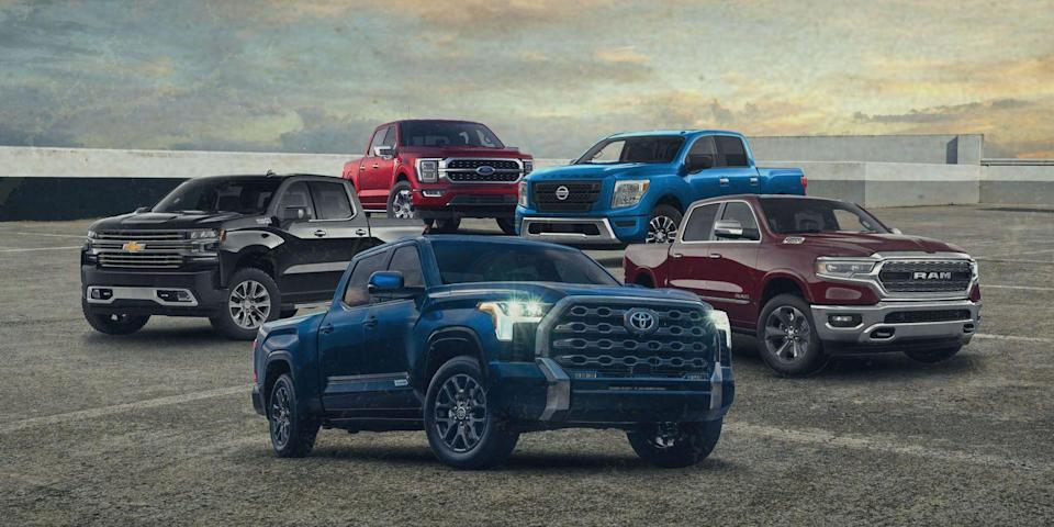 Photo credit: Chevrolet, Ford, Nissan, Ram, Toyota - Car and Driver