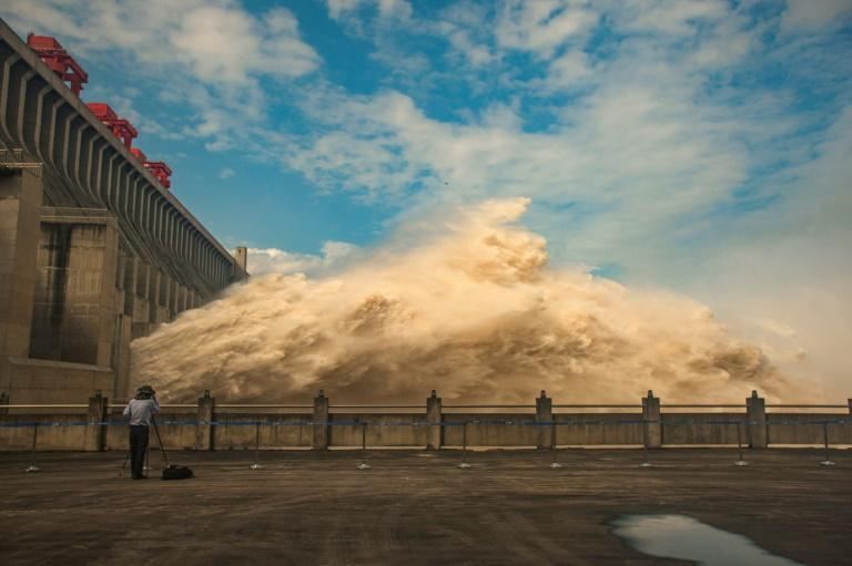 The Three Gorges Dam, a gigantic hydro-power project on the Yangtze river, in China