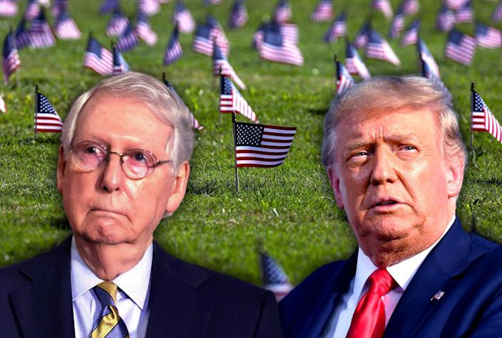 Mitch McConnell; Donald Trump; Covid Memorial Project