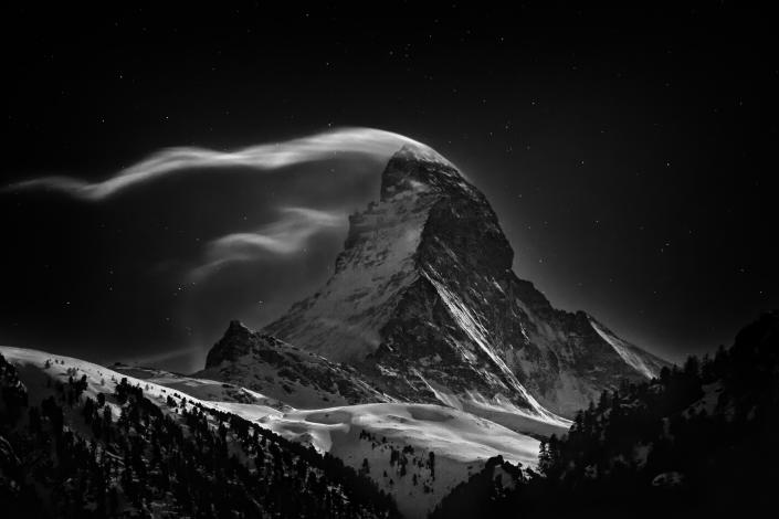 """<b>First Place for Places: The Matterhorn</b> <br> The Matterhorn 4478 m at full moon. <a href=""""http://ngm.nationalgeographic.com/ngm/photo-contest/"""" rel=""""nofollow noopener"""" target=""""_blank"""" data-ylk=""""slk:(Photo and caption by Nenad Saljic/National Geographic Photo Contest)"""" class=""""link rapid-noclick-resp"""">(Photo and caption by Nenad Saljic/National Geographic Photo Contest)</a>"""