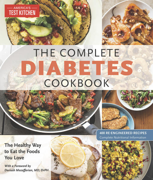 "This image provided by America's Test Kitchen in December 2018 shows the cover for the cookbook ""Complete Diabetes."" It includes a recipe for Asian Chicken Lettuce Wraps. (America's Test Kitchen via AP)"