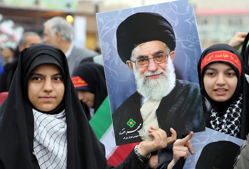 """Iran's supreme leader Ayatollah Ali Khamenei, (in picture), said a landmark nuclear deal with world powers """"won't change"""" the country's stance toward the """"arrogant"""" United States"""
