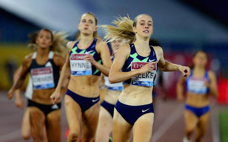 Jemma Reekie wins the 800m -Jemma Reekie rounds off record-breaking year with high-profile 800m triumph at the Rome Diamond League - GETTY IMAGES