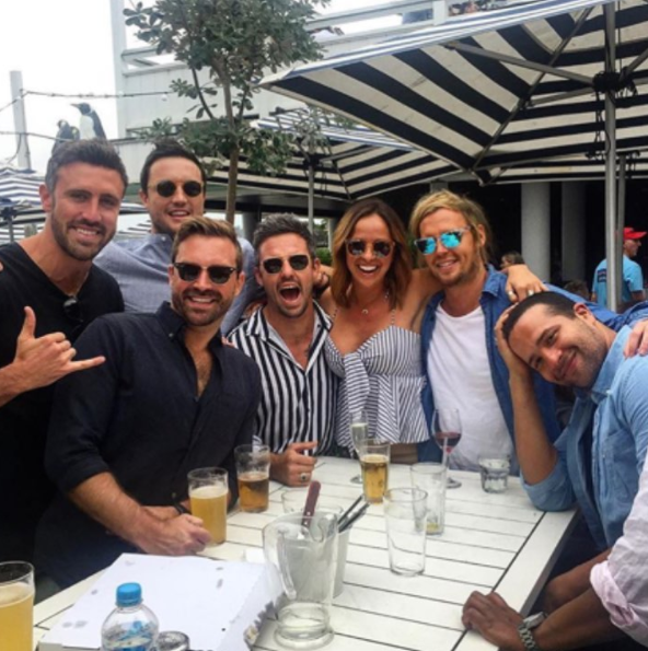 The Bachelorette guys hang out but where is Stu? Source: Instagram