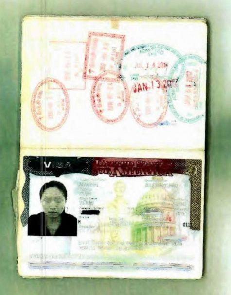 A passport photo of Yujing Zhang, alleged Mar-a-Lago intruder, was entered into evidence during a pre-trial hearing in Florida. (Obtained by ABC News)