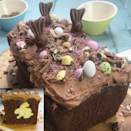 """<p>Slice into this decadent chocolate cake with Nutella icing to find a little surprise inside…</p><p><strong>Recipe: <a href=""""https://www.goodhousekeeping.com/uk/food/recipes/hidden-bunny-nutella-chocolate-loaf-cake"""" rel=""""nofollow noopener"""" target=""""_blank"""" data-ylk=""""slk:Hidden bunny loaf cake"""" class=""""link rapid-noclick-resp"""">Hidden bunny loaf cake</a> </strong></p>"""