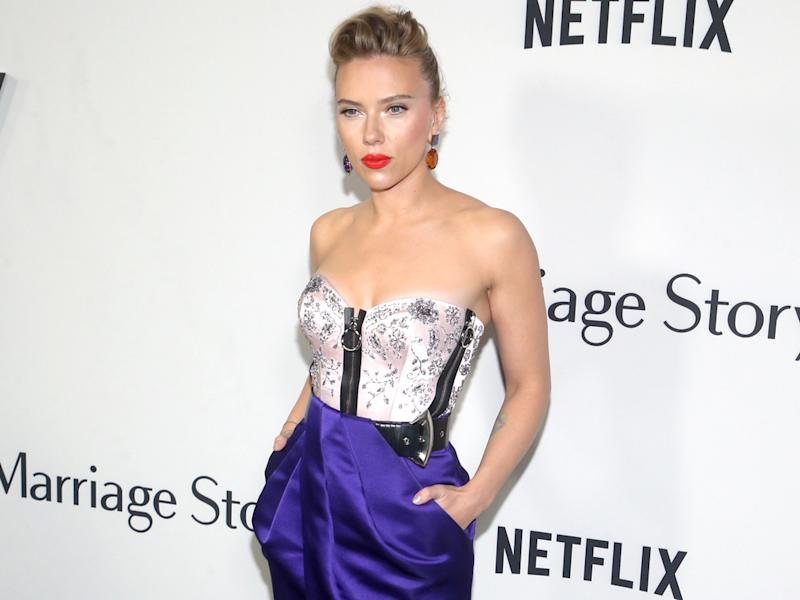 "Scarlett Johansson bei der Premiere des Films ""Marriage Story"" in Los Angeles (Bild: imago images/MediaPunch/Faye Sadou)"