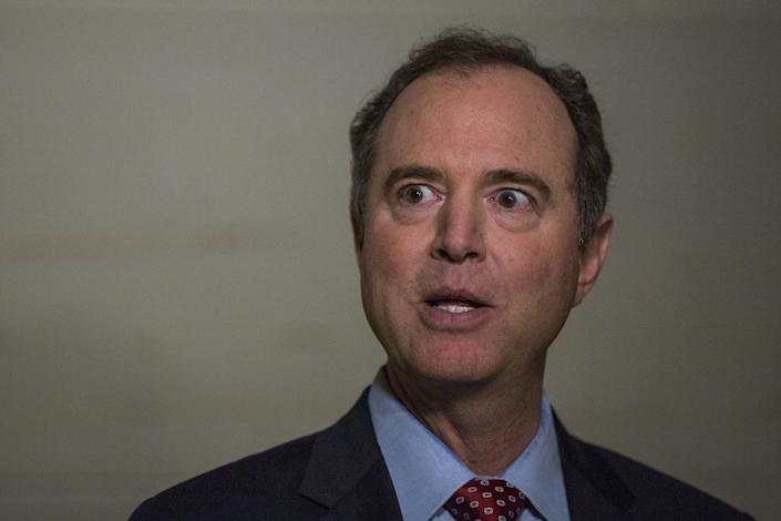 """Rep. Adam Schiff (D-Calif.), ranking member on the House Intelligence Committee, called the memo a """"conspiracy theory"""" designed by Republicans. (Photo: Zach Gibson/Bloomberg via Getty Images)"""