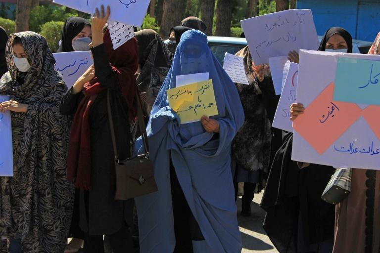 The Taliban's pledge that women will be allowed to work, within the limits of Sharia law, is being treated with scepticism (AFP/-)