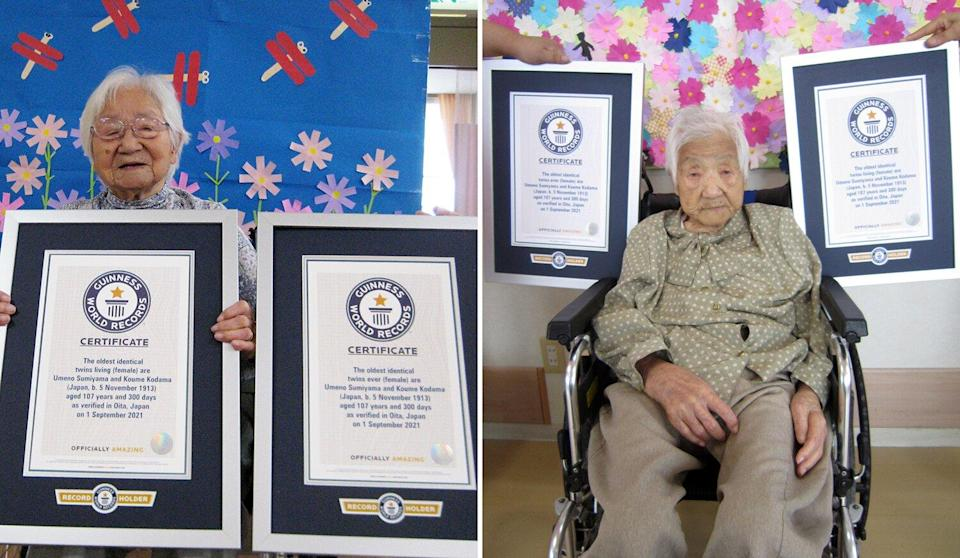 Japanese Sisters Umeno and Koume, 107, Are Officially World's Oldest Identical Twins