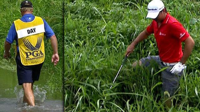 Jason Day takes off shoes, crosses river and still somehow makes par at the PGA Championship