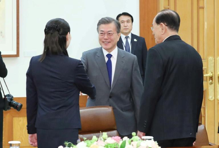 President Moon Jae-in is rarely shown in Pyongyang's official mediaMore