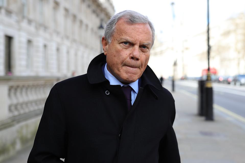 Businessman Sir Martin Sorrell arrives at the Cabinet Office, London, ahead of a meeting of the Government's emergency committee Cobra to discuss coronavirus. PA Photo. Picture date: Thursday March 12, 2020. See PA story HEALTH Coronavirus. Photo credit should read: Aaron Chown/PA Wire (Photo by Aaron Chown/PA Images via Getty Images)