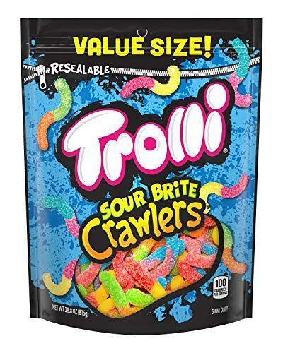 "<p><strong>Trolli</strong></p><p>amazon.com</p><p><strong>$4.99</strong></p><p><a href=""https://www.amazon.com/dp/B01N41NR6P?tag=syn-yahoo-20&ascsubtag=%5Bartid%7C10049.g.32878626%5Bsrc%7Cyahoo-us"" rel=""nofollow noopener"" target=""_blank"" data-ylk=""slk:Shop Now"" class=""link rapid-noclick-resp"">Shop Now</a></p><p>Sweet and sour anything always works. And these creepy worm gummies double as cool decorations.</p>"