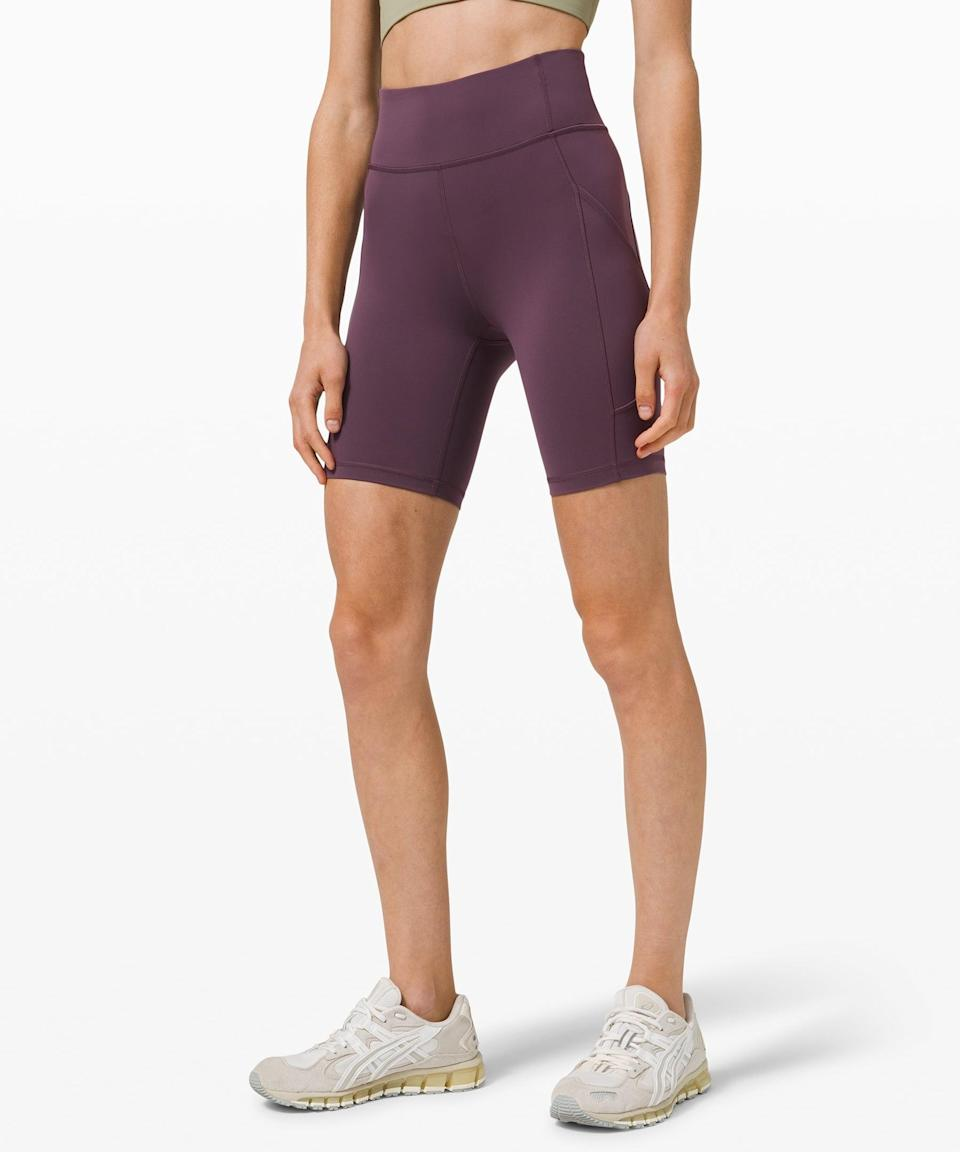 <p>Break a sweat in these staple, breathable <span>Lululemon Invigorate High Rise Shorts</span> ($68).</p>
