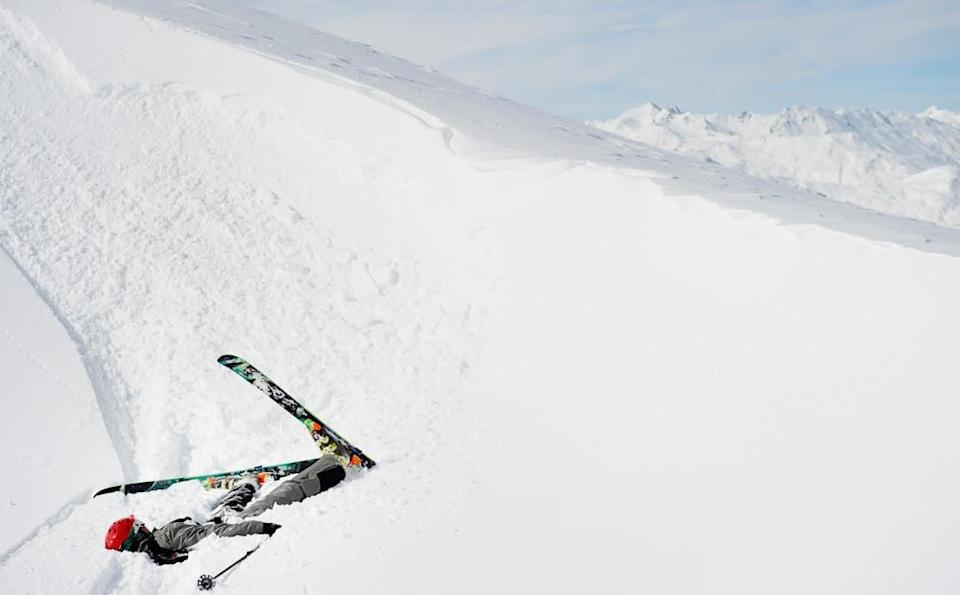 SKIER FALL - getty images
