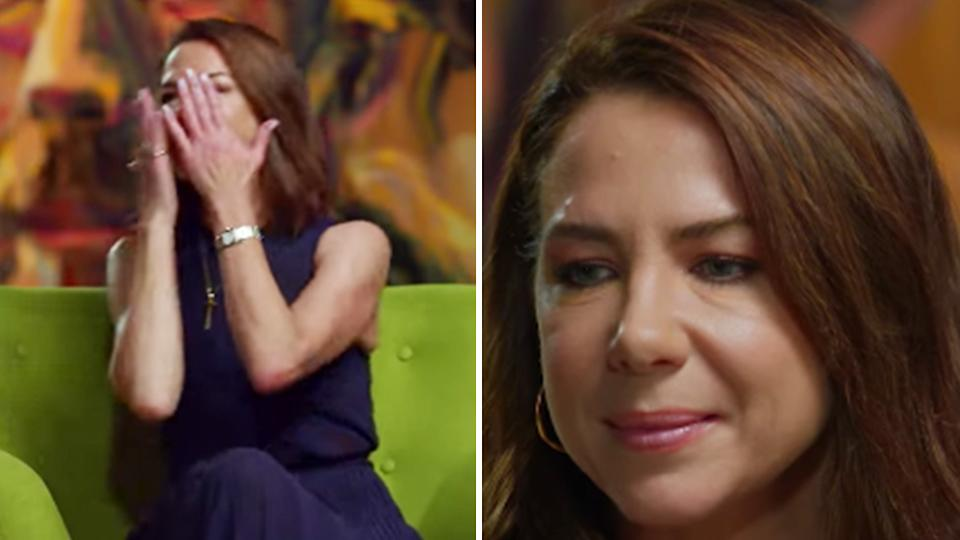 Kate Ritchie is emotional on ABC's Anh's Brush With Fame