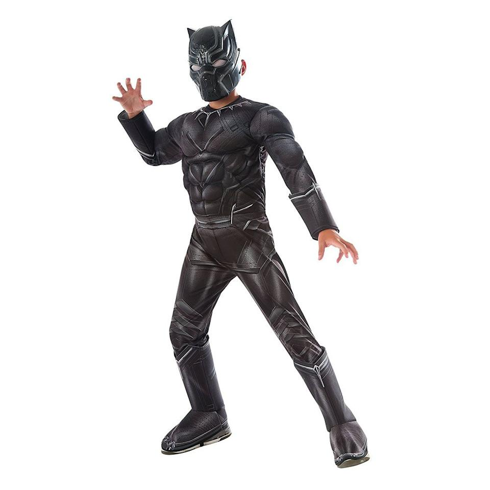 "<p>$28</p><p><a rel=""nofollow"" href=""https://www.amazon.com/Rubies-Costume-Captain-America-Panther/dp/B018LRXGCC/"">SHOP NOW</a></p><p>This movie was one of the biggest superhero blockbusters ever, so the <a rel=""nofollow"" href=""https://www.womansday.com/style/g22583902/boys-halloween-costumes/"">boys costume</a> is both trendy <em>and </em>timeless. </p>"
