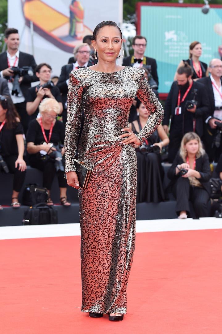 Mel C channelled her inner Scary Spice in a leopard print number by Manila Grace. <em>[Photo: Getty]</em>