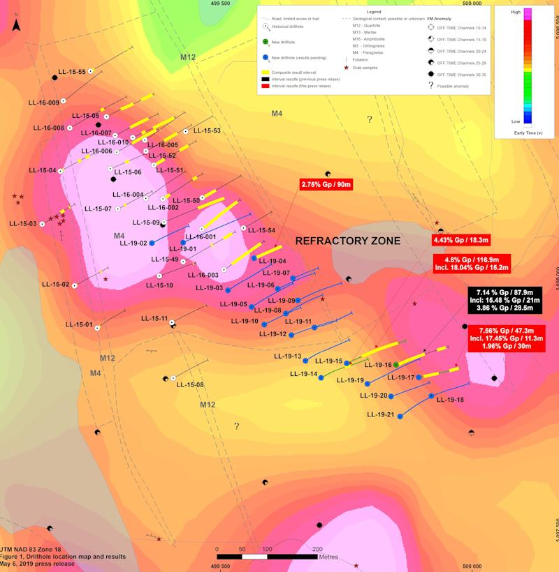 Lomiko Metals and Quebec Precious Metals report new intercepts 116.9 m of 4.80% including 15.2 m of 18.04% and 47.3 m of 7.56% including 11.3 m of 17.45% flake graphite at the La Loutre Project