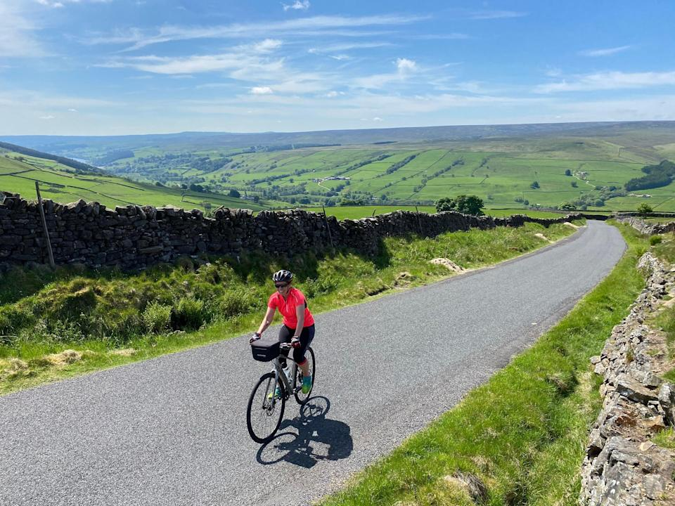 Abi Jackson cycling in Yorkshire