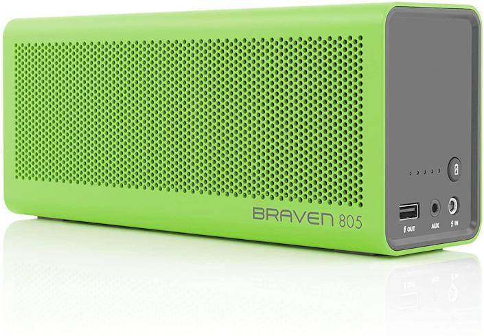 <p>Once fully charged, this <span>Braven 805 Portable Wireless Bluetooth Speaker</span> ($130) can play for 18 hours.</p>