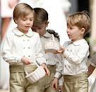 <p>George was a page boy at his aunt Pippa Middleton's 2017 wedding to James Matthews in Englefield Green. (Max Mumby/Indigo/Getty Images)</p>