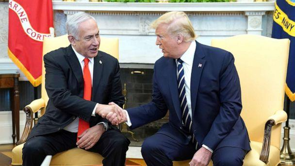 PHOTO: President Donald Trump meets with Israeli Prime Minister Benjamin Netanyahu in the Oval Office of the White House, Jan. 27, 2020. (Kevin Lamarque/Reuters)