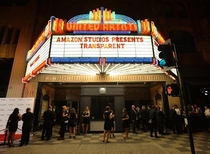 People arrive for the premiere of Amazon Prime's 'Transparent', at the Ace Hotel in Los Angeles, California, on September 15, 2014 (AFP Photo/Mark Ralston)