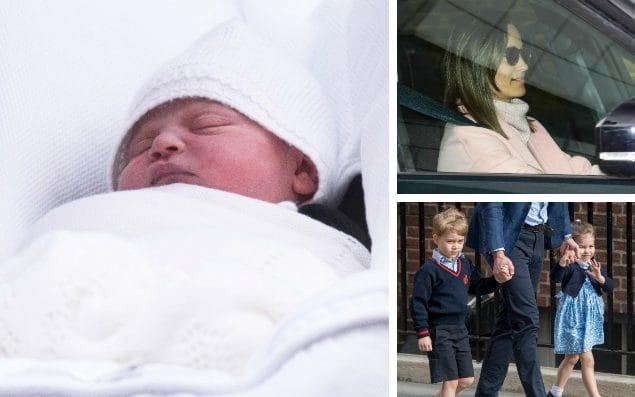 Pippa Middleton, top right, was the first family member to be pictured outside Kensington Palace to meet the Duke and Duchess of Cambridge's new baby - Paul Grover for The Telegraph