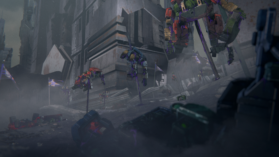 The ruins of the Transformers' home planet in Transformers : War for Cybertron Trilogy. (PHOTO: Netflix)
