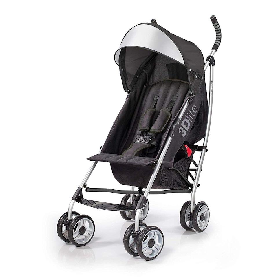 "<p><strong>Summer Infant</strong></p><p>amazon.com</p><p><strong>$69.99</strong></p><p><a href=""https://www.amazon.com/Summer-Infant-Lite-Convenience-Stroller/dp/B01IJVV5QY/?tag=syn-yahoo-20&ascsubtag=%5Bartid%7C10055.g.31782776%5Bsrc%7Cyahoo-us"" rel=""nofollow noopener"" target=""_blank"" data-ylk=""slk:Shop Now"" class=""link rapid-noclick-resp"">Shop Now</a></p><p>When you've already got a stroller for everyday but need a second stroller just for travel, this under-$75 stroller fits the bill. <strong>It features multiple recline positions for baby's comfort, a five-point safety harness, and folds up easily.</strong> Since it weighs just 13 pounds, our Lab experts recommend to not place any items on the handlebar to prevent the stroller from tipping over.</p><p><strong><strong>• </strong>Stroller weight:</strong> 13 pounds<br><strong><strong>• </strong>Weight limit</strong>: 50 pounds<br><strong><strong>• </strong>Ages</strong>: 6 months and up<strong><br></strong></p>"