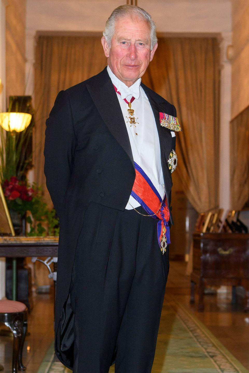 <p>Prince Charles poses for a photo at the British Embassy in Tokyo, Japan.</p>