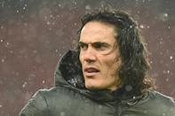 Edinson Cavani made his debut for Manchester United against Chelsea