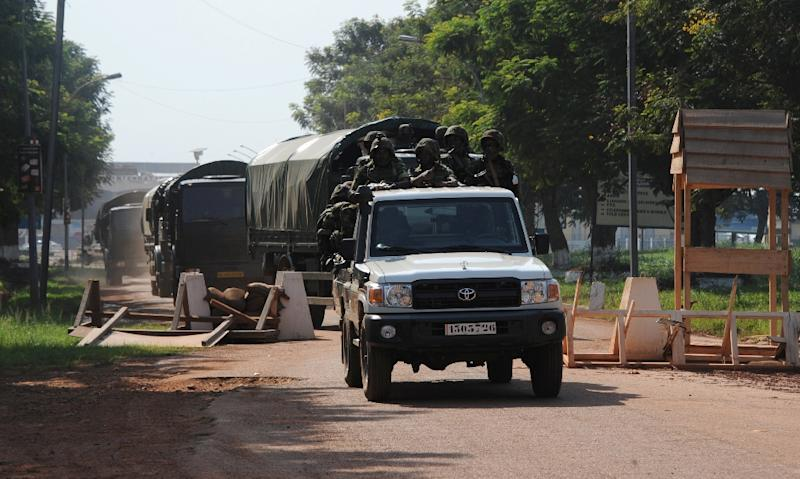 Burundian soldiers in Bangui on December 15, 2013 to join the African Union mission to restore security in the Central African Republic (AFP Photo/Sia Kambou)