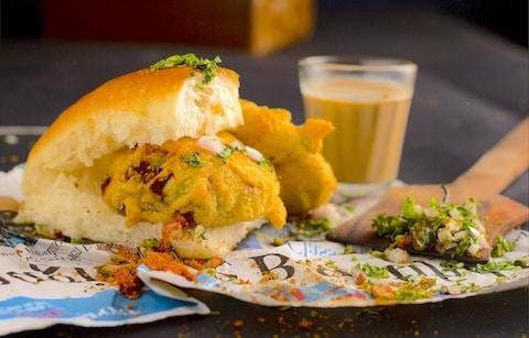 Vada Pav in Mumbai - Credit: getty