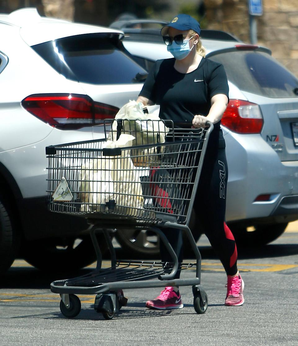 <p>Rebel Wilson shops for groceries at her local market in Los Angeles.</p>