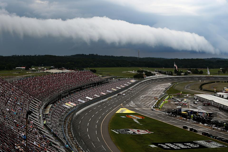 The storm that's always loomed over NASCAR has arrived. (Photo by Brian Lawdermilk/Getty Images)