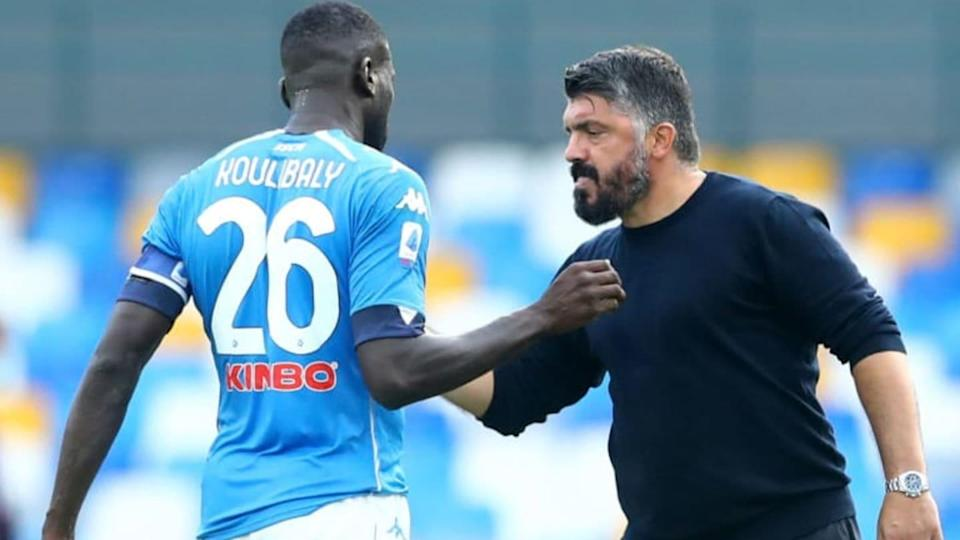 Koulibaly e Gattuso | DeFodi Images/Getty Images